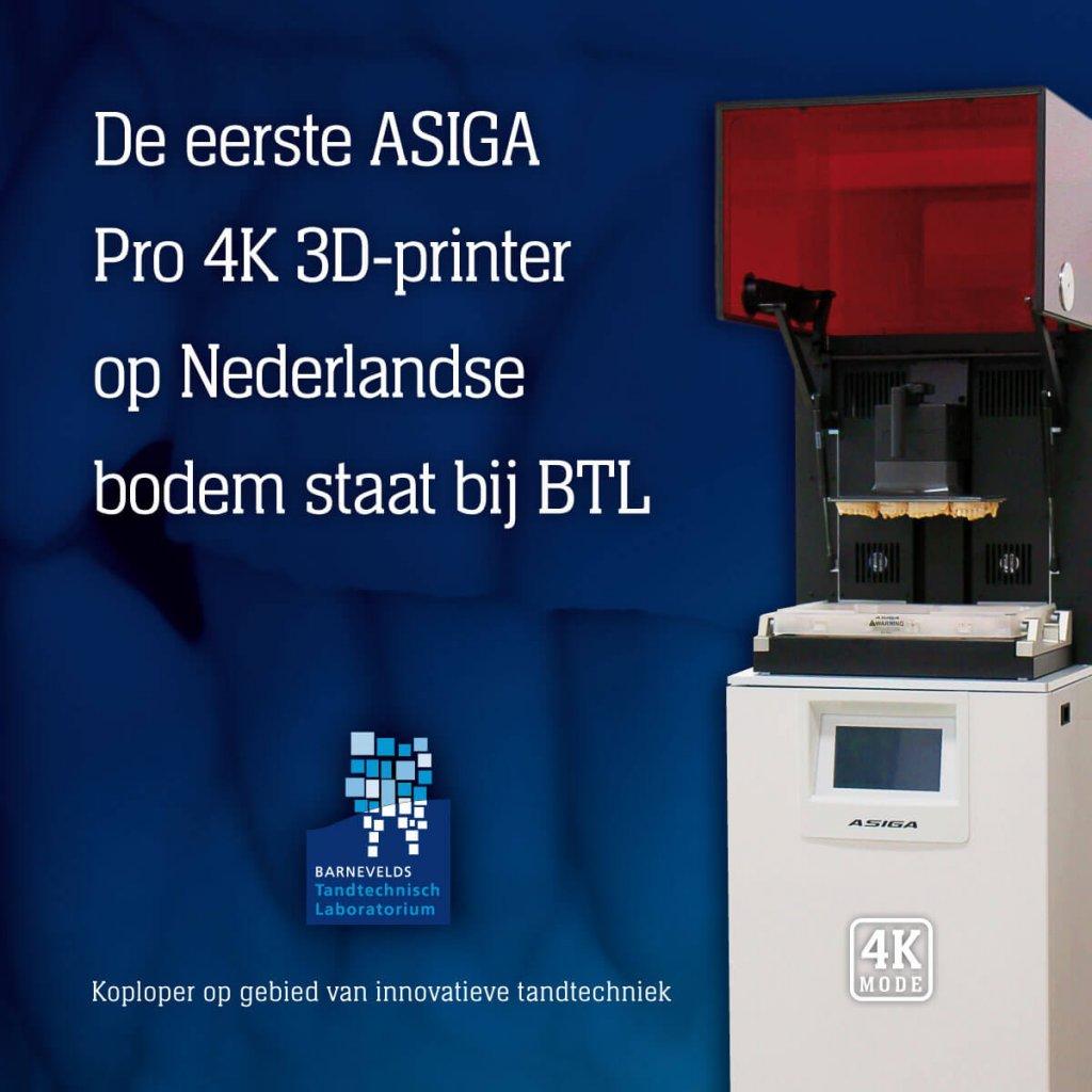 Asiga Pro 4K 3D printer | Barnevelds Tandtechnisch Laboratorium